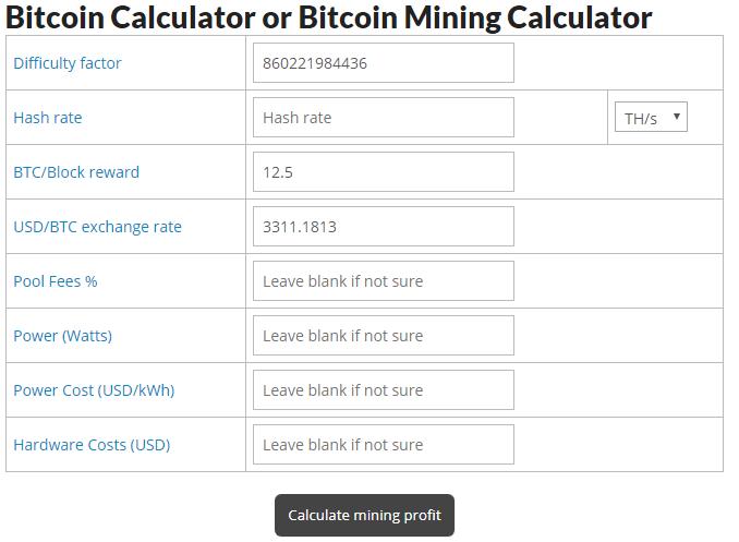 realistic bitcoin mining calculator