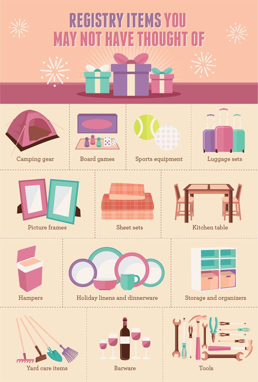 Common Wedding Gift Registry Items