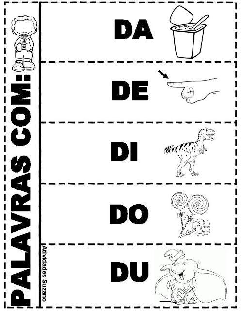 Atividade interativa com slabas Silabas Education Spanish