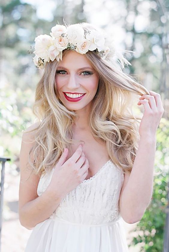 wedding hairstyles curly simple