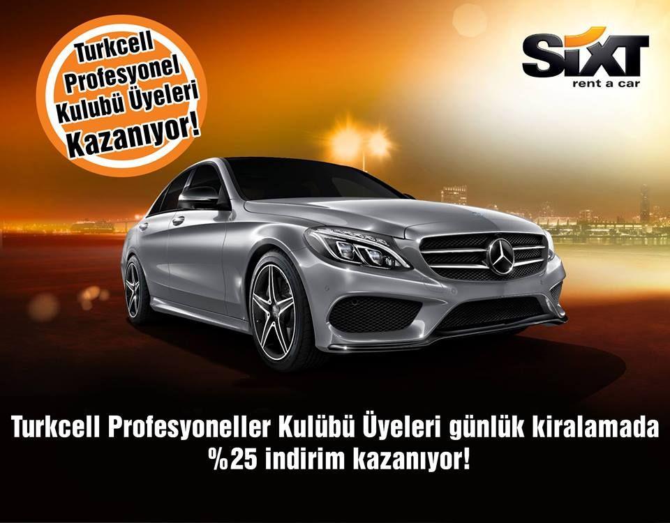 Turkcell Profesyoneller Kulubu Uyeleri Gunluk Kiralamada 25 Indirim Kazaniyor Firsatlar Ve Indirimler Icin Sixt Com Tr Sixtrentacar Sixt