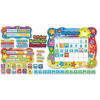 trend enterprises bulletin board set star calendar to decorate your