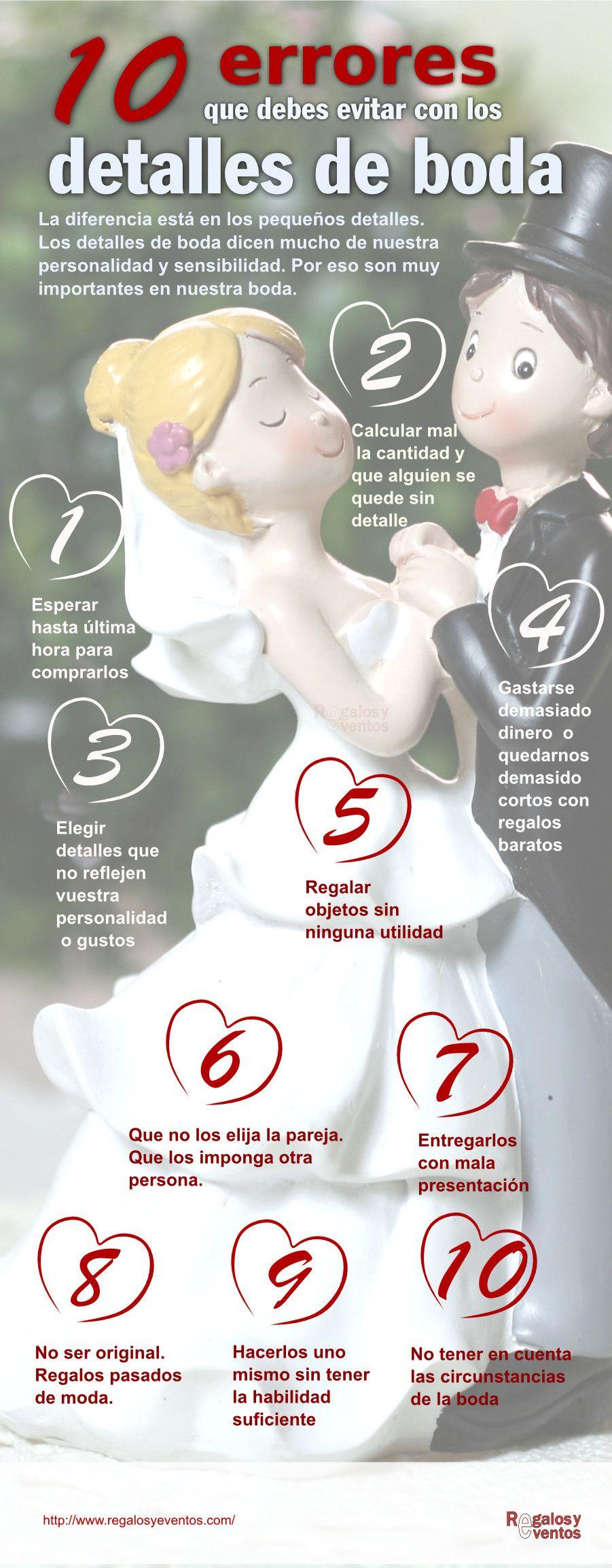 Los errores de los #detalles de #boda