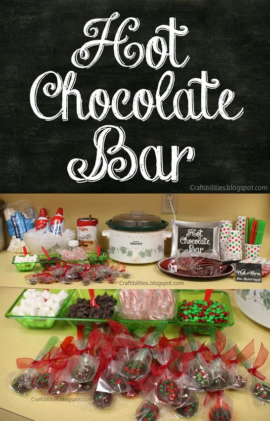 Superb Ideas For Work Christmas Parties Part - 9: Hot Chocolate Bar In The Teachers Lounge. Chocolate SPOONS U0026 HOT CHOCOLATE  BAR - Free · Staff Christmas Party IdeasOffice ...