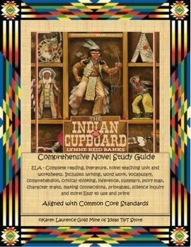 This Novel Study For The Indian In The Cupboard By Lynne Reid Banks Contains 117 Pages Of Resources Inc Indian In The Cupboard Novel Studies Novel Study Units