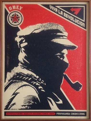 Viva La Revolucion (Marcos Profile) by Shepard Fairey on artnet ...
