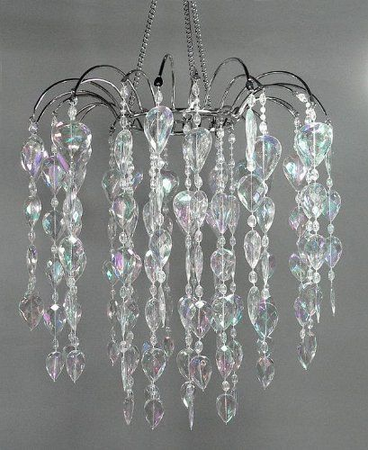 12 Faux Crystal Like Waterfall Chandelier Clear Iridescent By Balsacircle Http Www Amaz With Images Acrylic Chandelier Beaded Chandelier Event Decor Direct