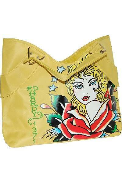 bfc532ea9f95 The Ed Hardy Tote Bag by Christian Audigier is a beautiful summery bag that  is distinctively