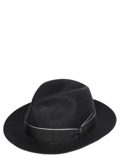 835ccb72ddc69 BORSALINO ALESSANDRIA LONG FUR FELT BRIMMED HAT