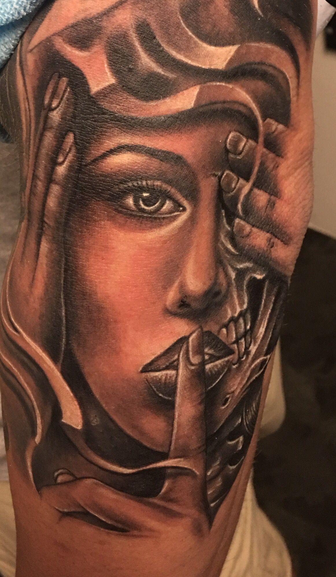 Hear See Speak No Evil Tattoo : speak, tattoo, Evil,, Speak, Tattoo., Tattoo,, Tattoos,, Skull, Tattoos