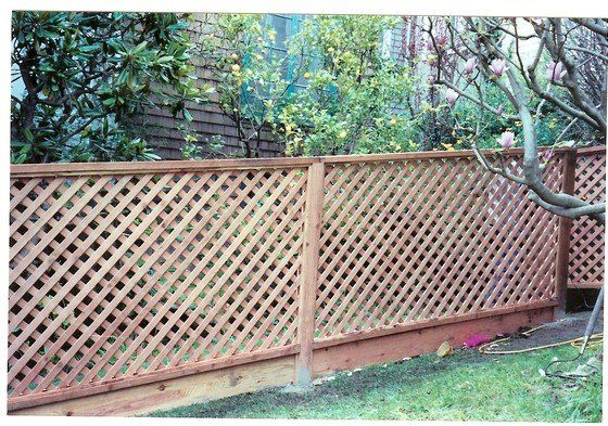 Lattice Fence With Bottom Board Garden Backyard Fences