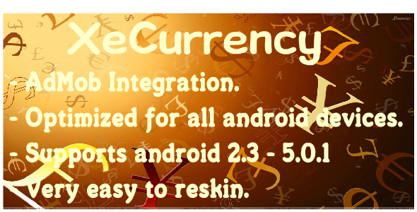 XeCurrency With AdMob Tracking app, Business icon