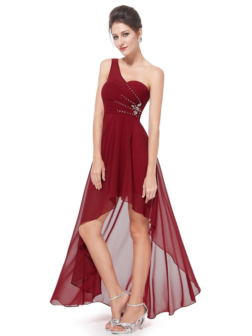 Vokuhila Abendkleid in Weinrot  Vokuhila abendkleid, Abendkleid