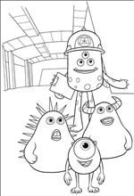 45 Coloring Pages Of Monsters University Monster University