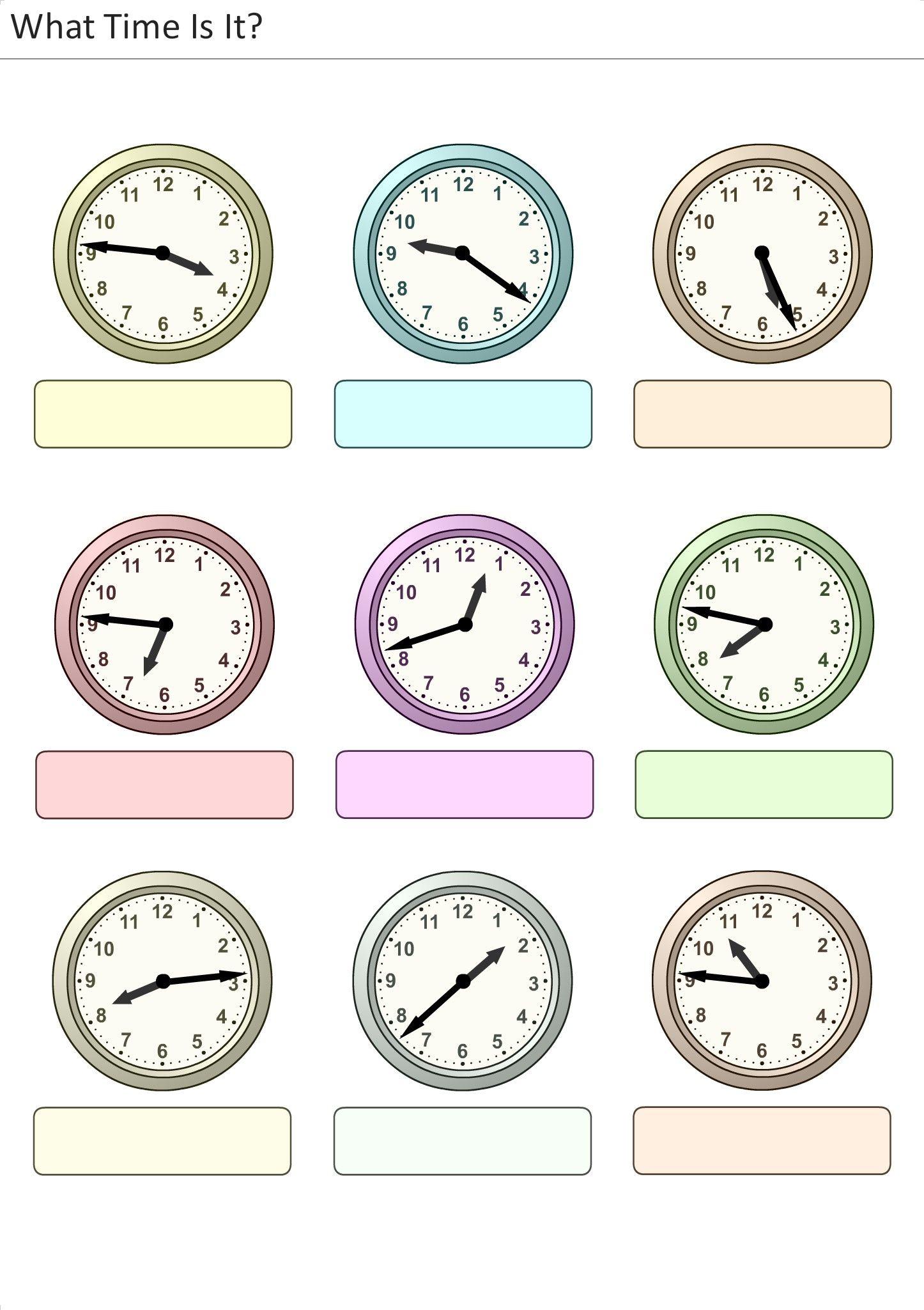 Printables La Hora Worksheet barns on pinterest actividades para preescolar primaria e inicial plantillas con relojes analogicos aprender la