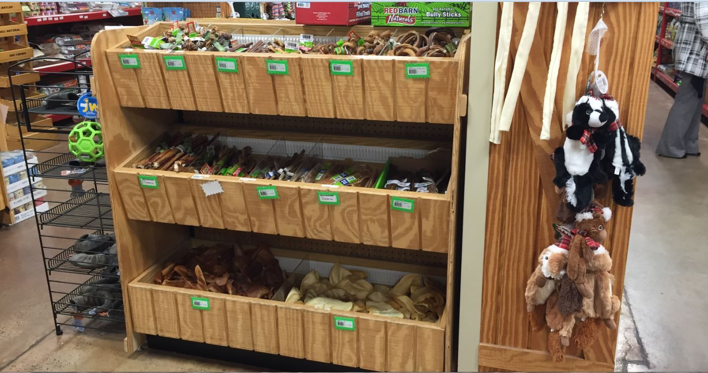 Wooden Dog Bone Display Pet Store Shelving Pet Store Fixtures