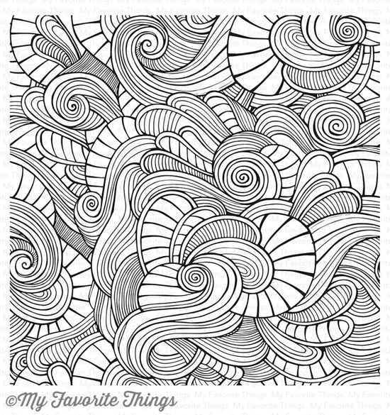 Wavy Coloring Book Background Stamp Mftstamps Coloring Books Book Background Mft Stamps