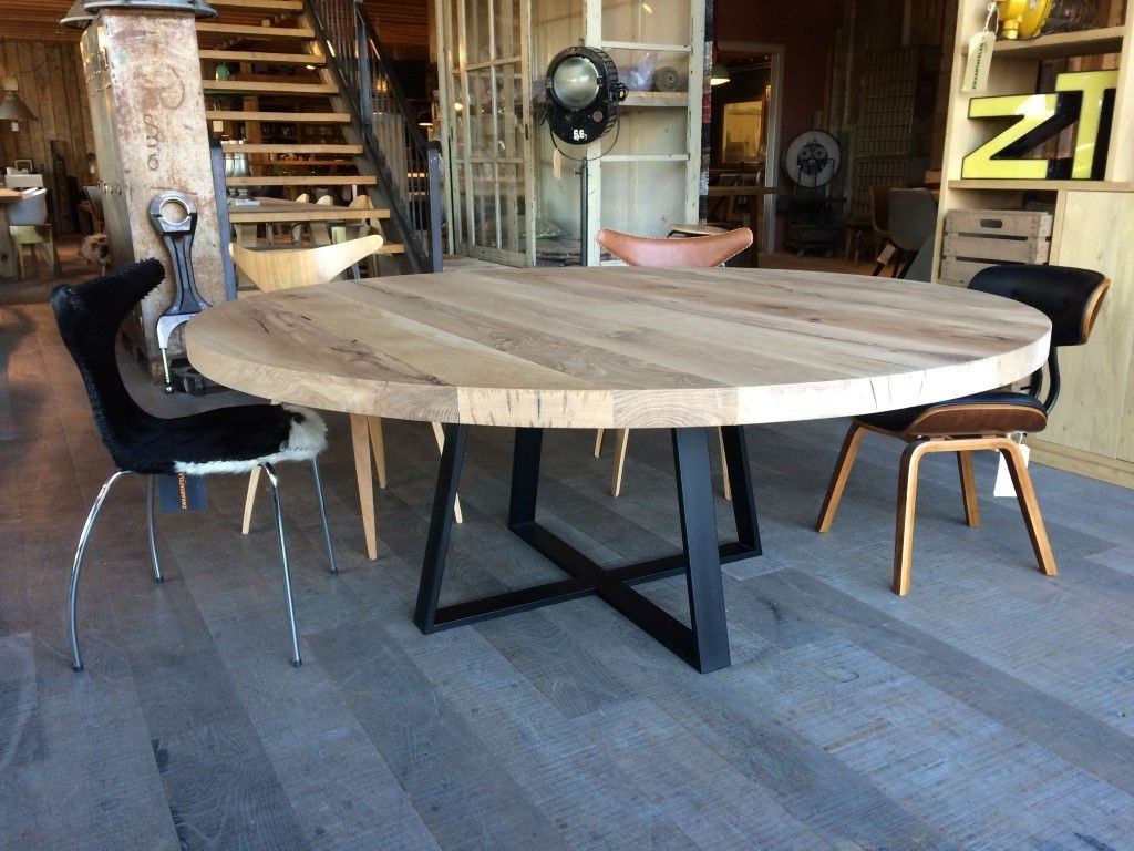 Ronde Tafel Eethoek.Ronde Tafels In 2019 Home Round Concrete Dining Table Dining