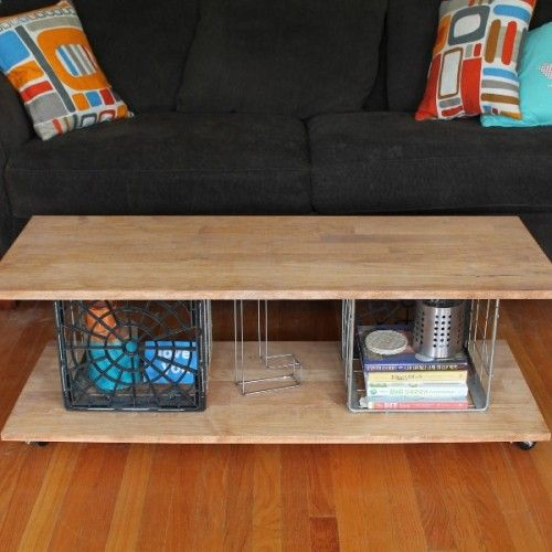 Cool Diy Milk Crates Coffee Table Shelterness Milk Crates Diy Crate Coffee Table Crate Furniture