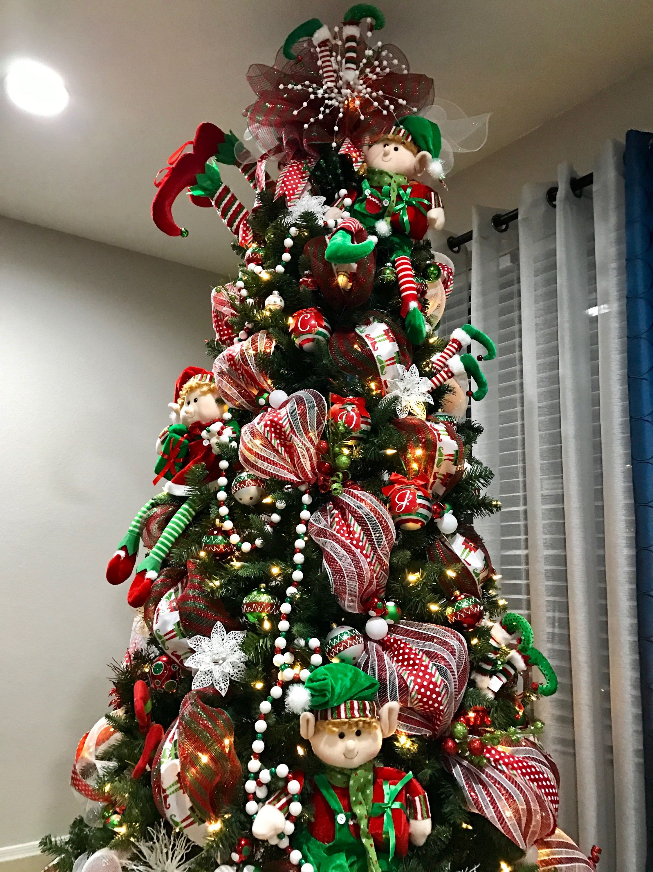 Elf Legs Christmas Tree Elf Christmas Decorations Creative Christmas Trees Holiday Christmas Tree