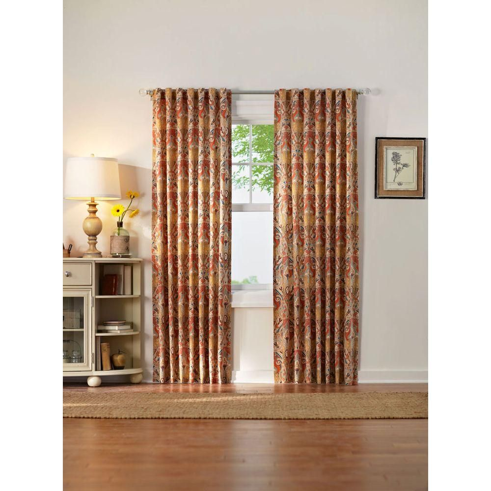 Home Decorators Collection Paisley Light Filtering Window Panel In