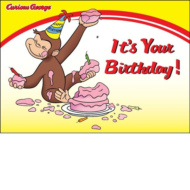 Curious George Birthday Card Perfect for a Curious George – Curious George Birthday Cards