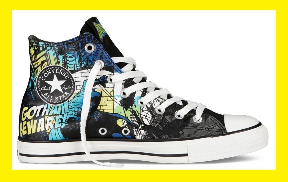 c0ea2ce70382d5 Converse Chuck Taylor ALL STAR HI Shoes Batman DC Comics Gotham City Dark  Knight