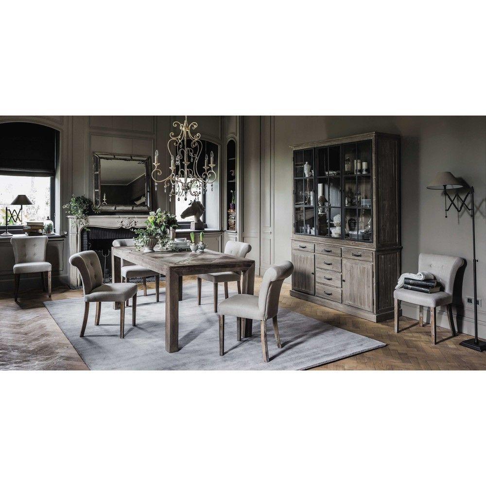 Vaisselier En Bois Recycl Maisons Du Monde Bureau Pinterest  # Meuble De Salon Interiors Vaissellier