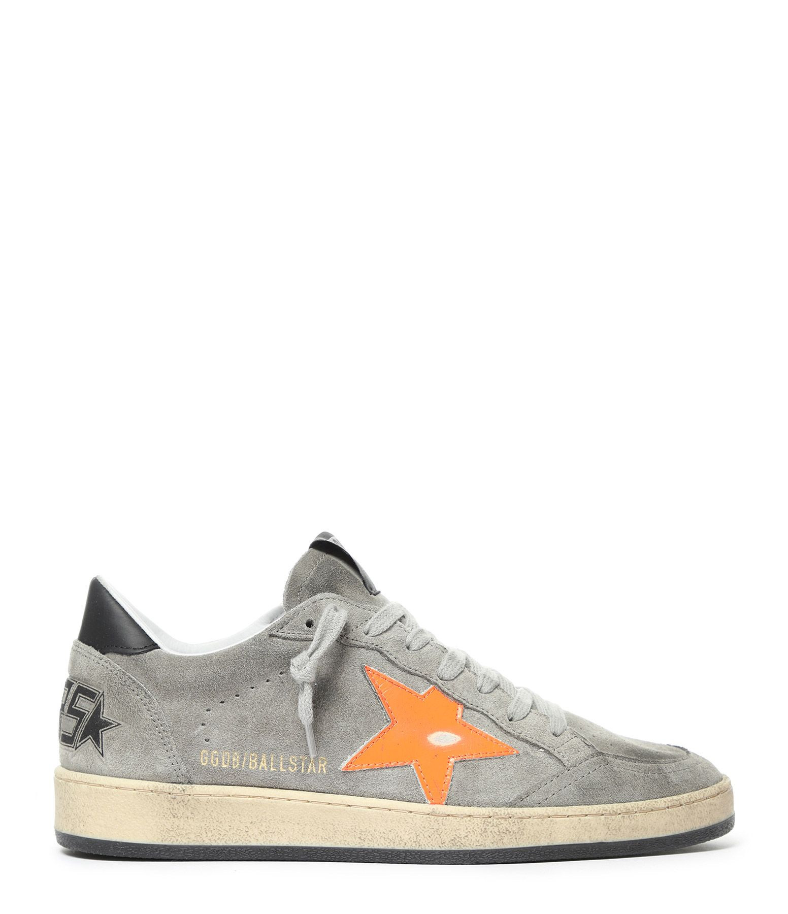Baskets Homme Ball Star Cuir Gris Orange Fluo en 2020 ...