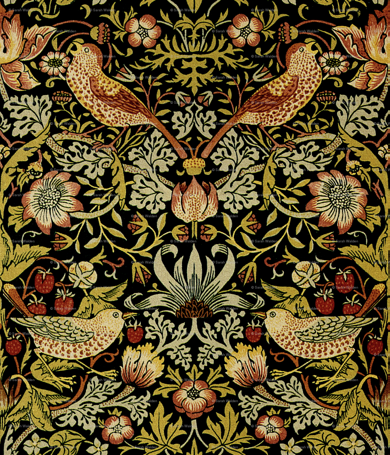 william morris wallpaper RWilliam Morris Strawberry