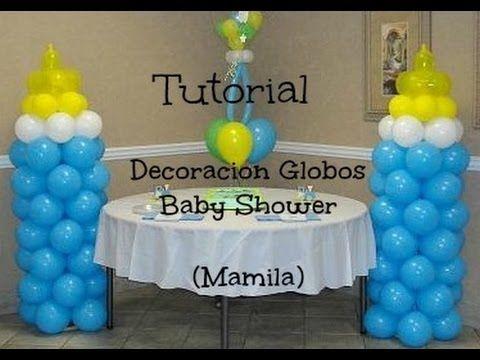 ▷ Decoracion De Globos Baby Shower ( MAMILA ) *Economico y Facil - imagenes de decoracion con globos
