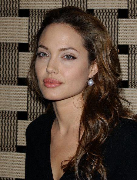 Angelina Jolie Pearl Drop Earrings