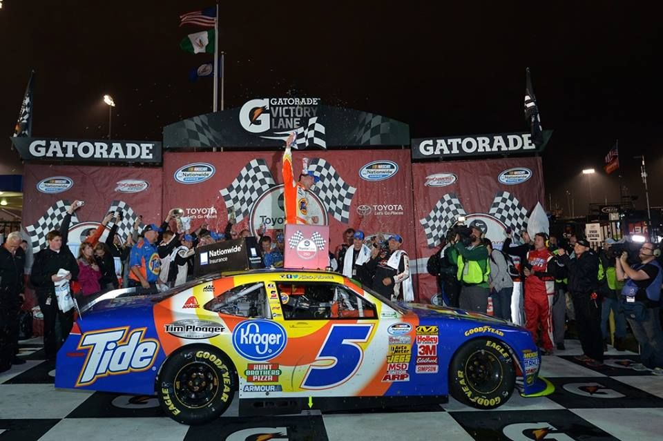 Kevin Harvick in Victory Lane after winning the NNS race in Richmond ...