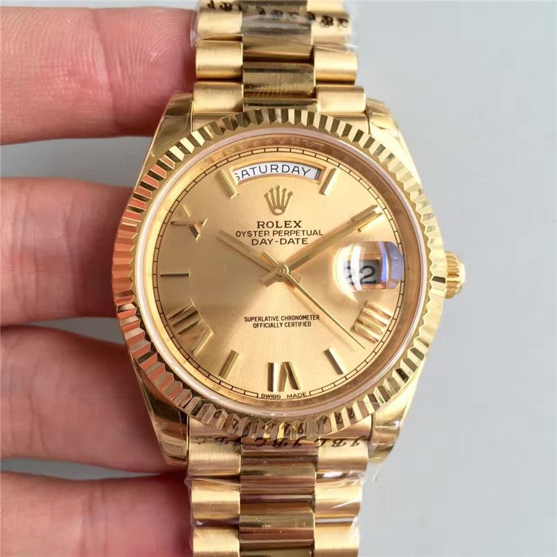 59e4a94cc6c Rolex Day-Date II 228238 Full Yellow Gold 1 1 Best Edition Roman Markers  A3255