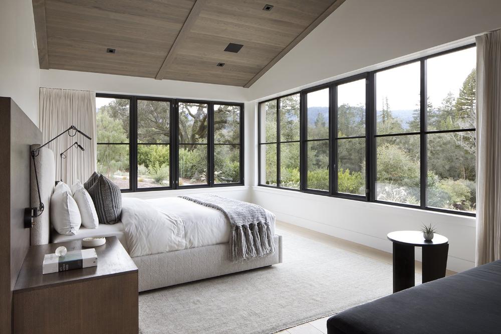 Una Casa De Campo Sofisticada Y Moderna Al Sur De San Francisco Casa De Campo Elegante Dormitorios Casas Rurales Modernas