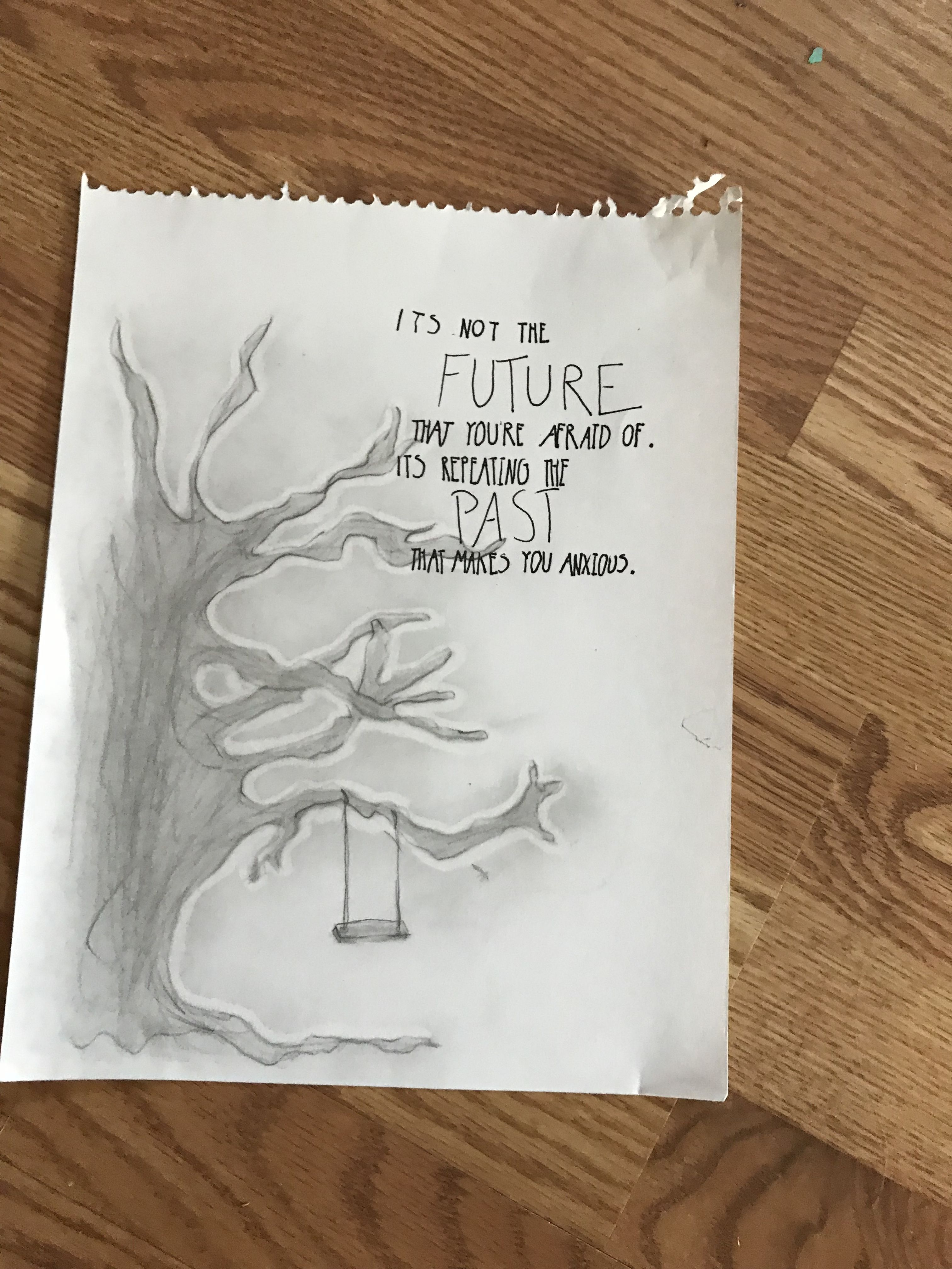 Tree swing quote life drawing sketch Swing quotes