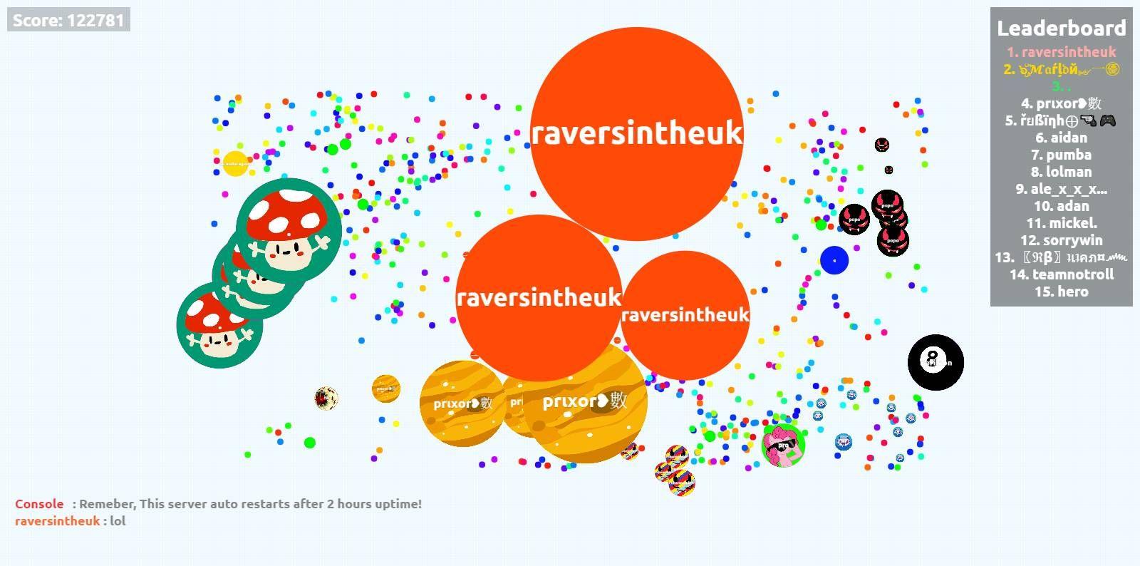 Raversintheuk Biggest Cell Ever Agar Io 122781 Mass Player