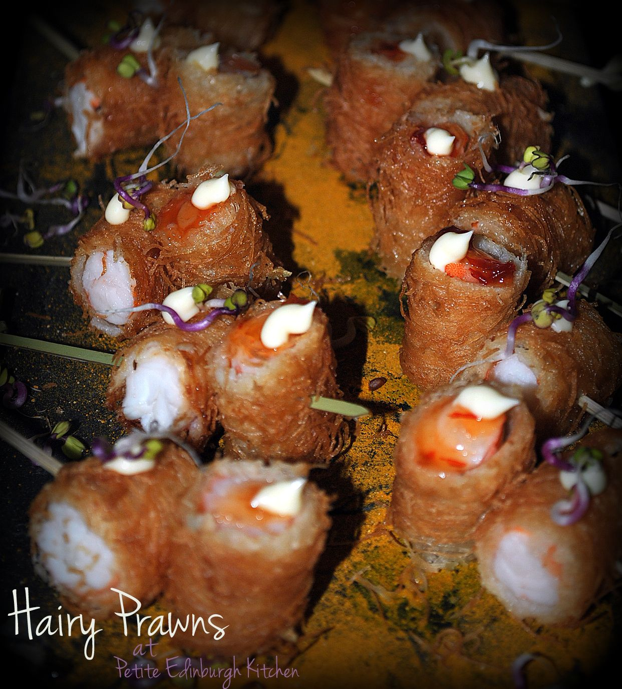 Hairy prawns hors d 39 oeuvres for Canape hors d oeuvres difference