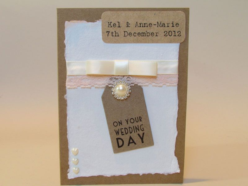 Personalised Recycled Vintage Wedding Card