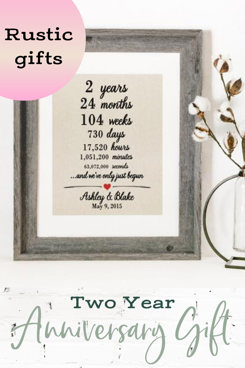 2 Years Together Personalized Cotton Print 2nd Anniversary Days Hours Minutes Second Wedding Anniversary Gift For Husband Wife Gift Second Wedding Anniversary Second Wedding Anniversary Gift 2nd Wedding Anniversary Gift