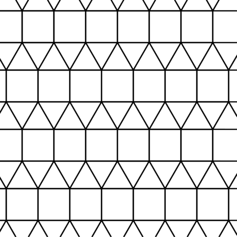 Teselado con Triángulos y Cuadrados Dibujo para colorear. Categorías ...