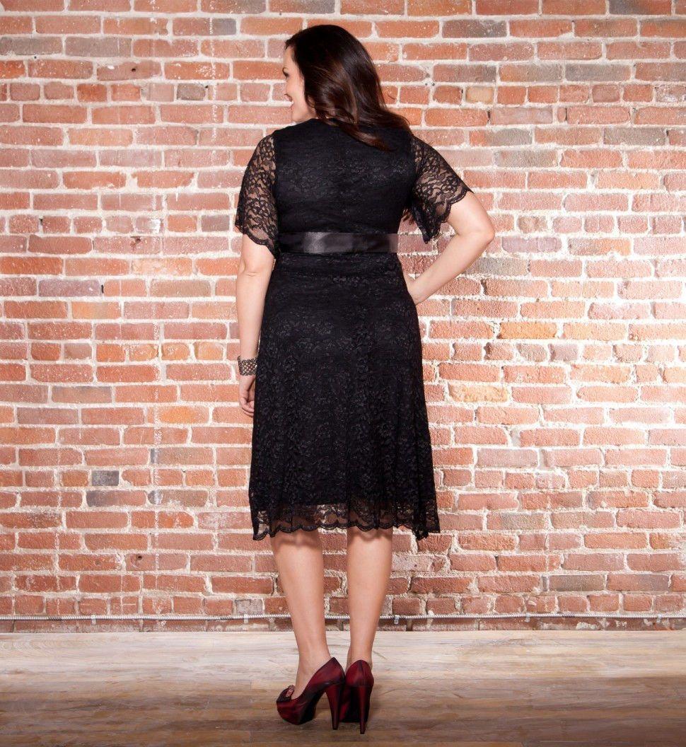 Plus Size Kiyonna Retro Glam Lace Dress Black 1X 2X 5X   Lace dress ...