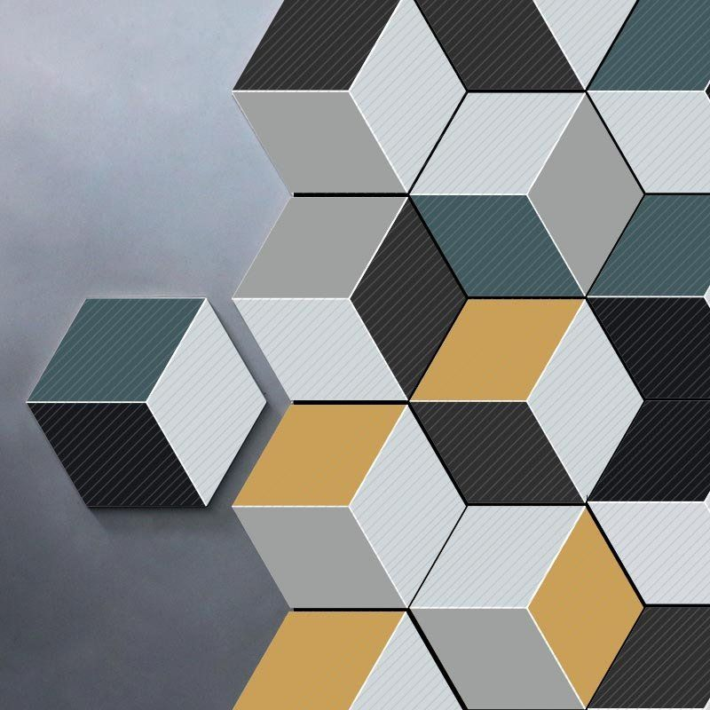 3d Wall Sticker 10pcs Set Self Adhesive Ceramic Tiles Diy Kitchen Bathroom Wall Floor Decal Hexagon Wall Tiles Cool Walls Diy Tile