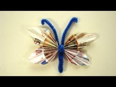Geldscheine Falten Geldgeschenke Schmetterling Youtube