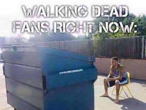 The Walking Dead funny meme. Next episode is all about Morgan when we're all waiting to see Glenn crawling out