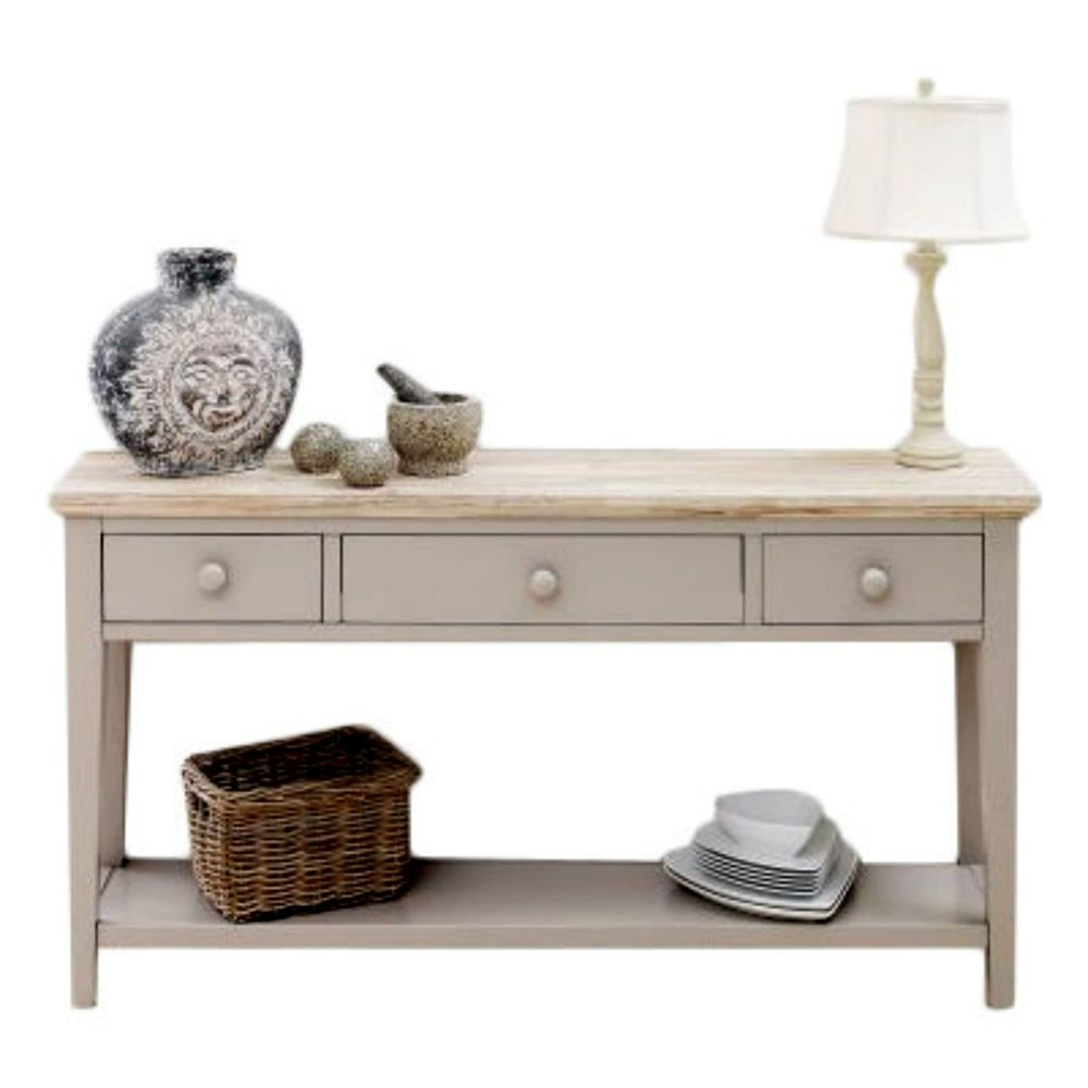 Hallway furniture oak Wide Console Table Large Dressing Hallway Furniture Rustic Country