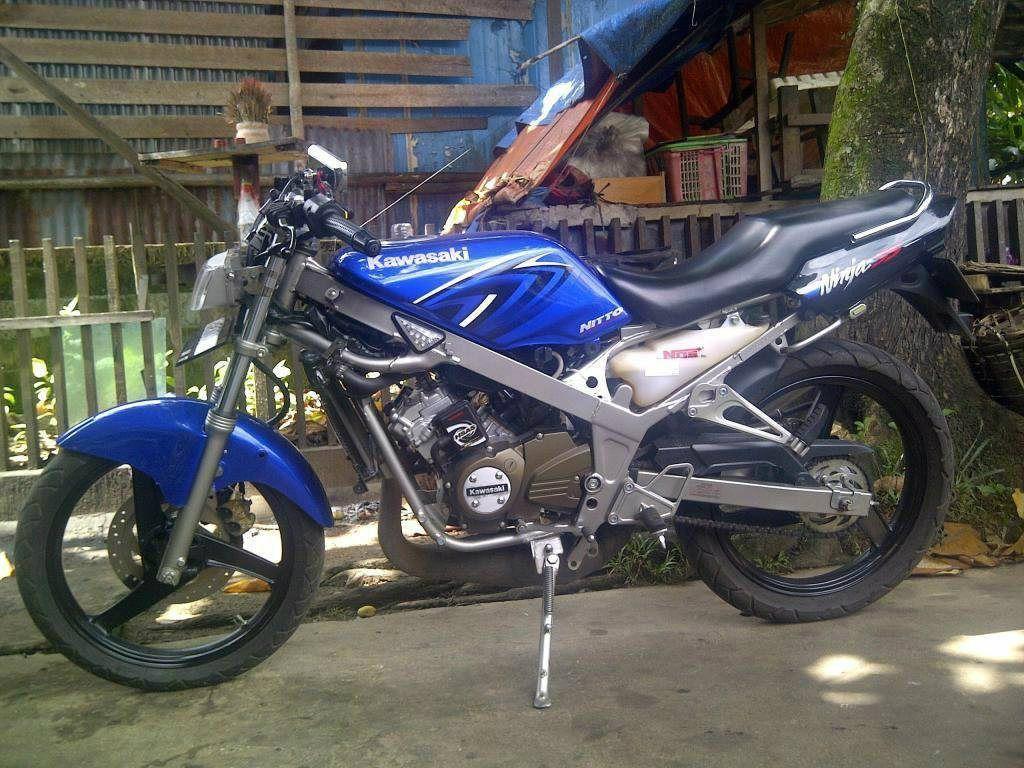 Kawasaki Ninja 150 SS Biru Modifikasi Simpel