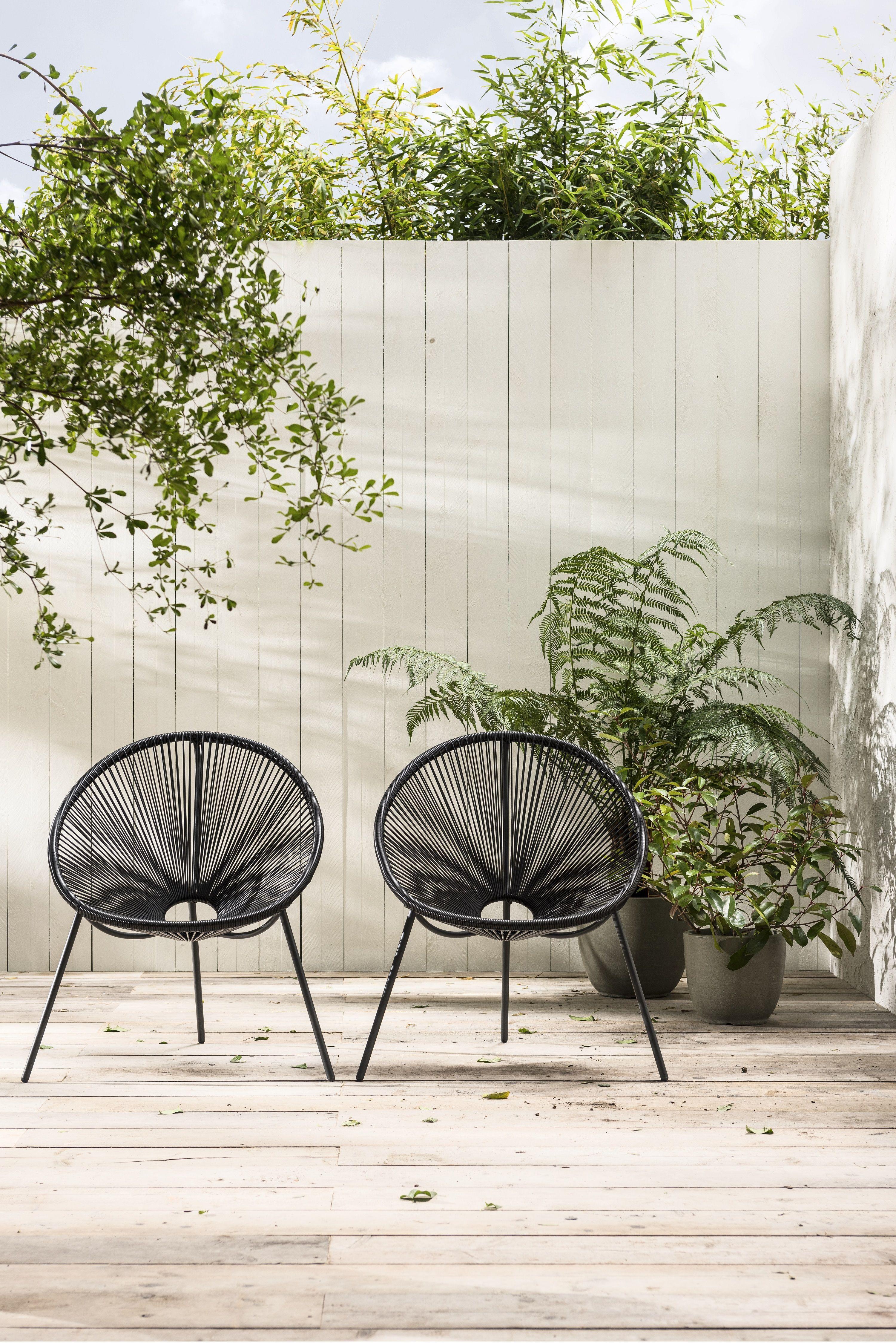 Tuintrend urban hangout en 2018 karwei urban hangout for Zwarte tuinstoelen