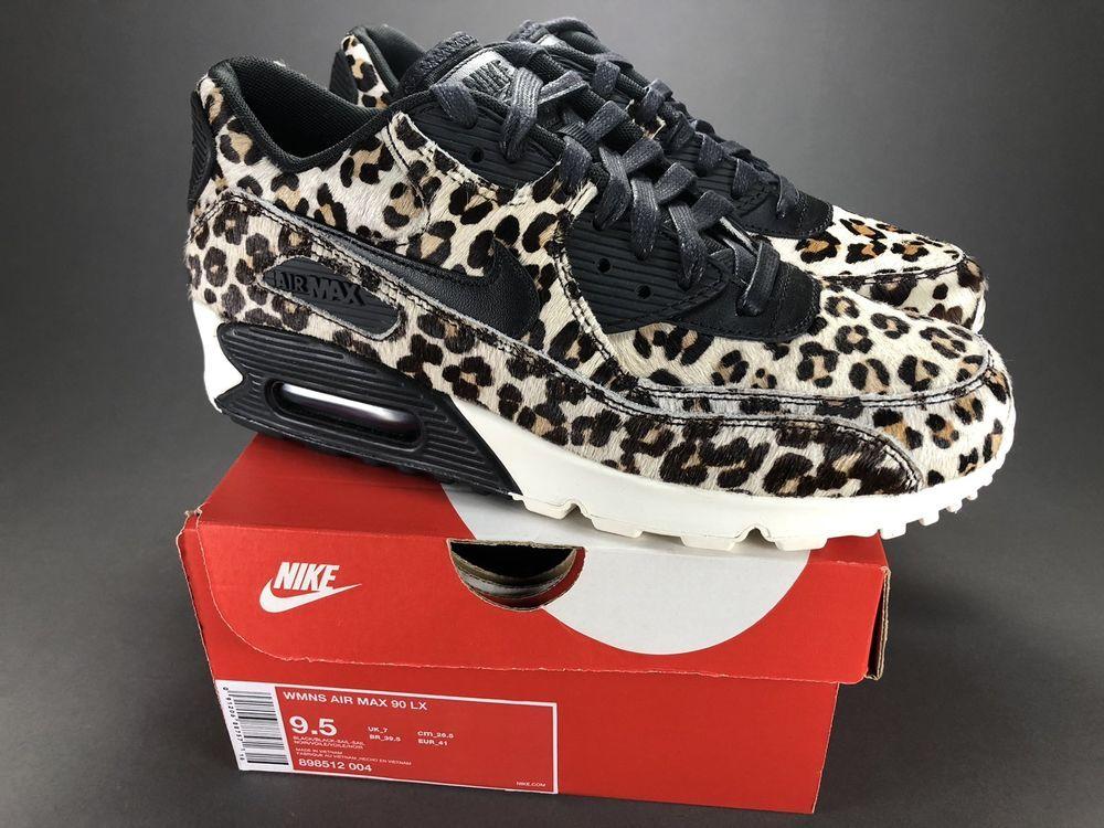 Nike Air Max 90 LX Cheetah Print Black Sail 898512 007 BNWB