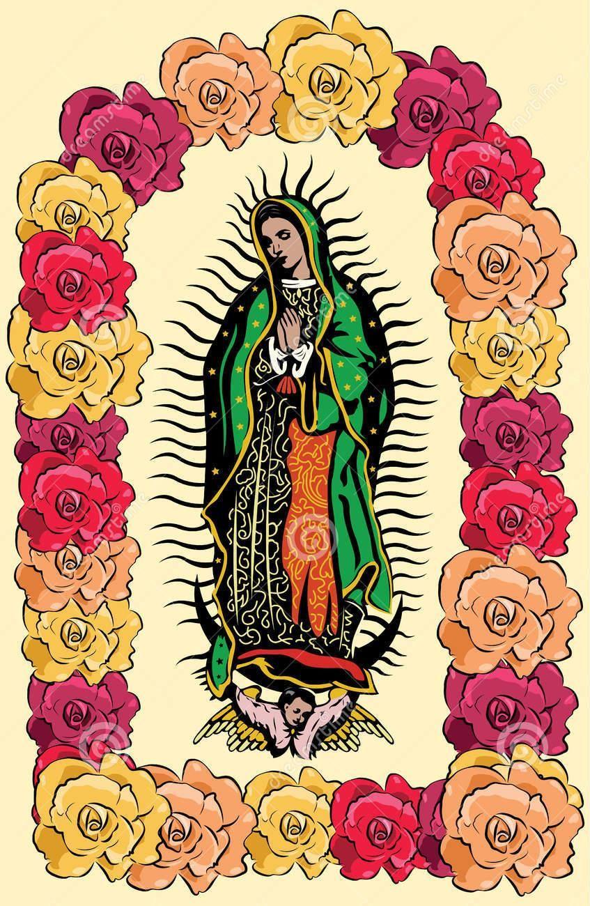La Virgen de Guadalupe y de las rosas | Virgen Guadalupe | Pinterest ...